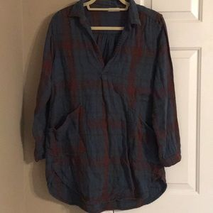 Free People plaid tunic!